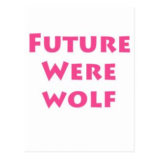 Homem-lobo futuro cartao postal