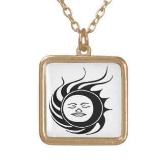 Homem místico de Sun Colar Banhado A Ouro