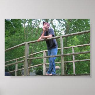 Homem na ponte pôster