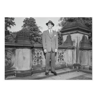 Homem no chapéu convite 12.7 x 17.78cm