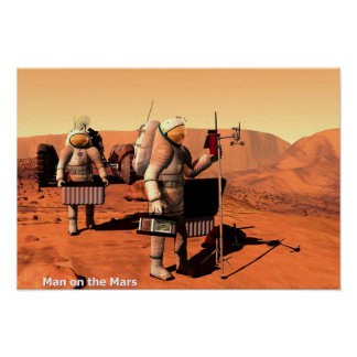 Homem no Marte Pôster