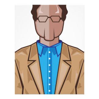 Homem no terno papel timbrado