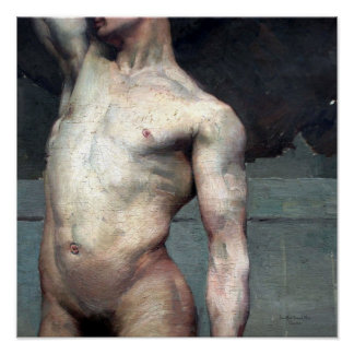 Homem nu académico 19.o posters