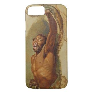 Homem que esforça-se com um Constrictor de boa, Capa iPhone 7