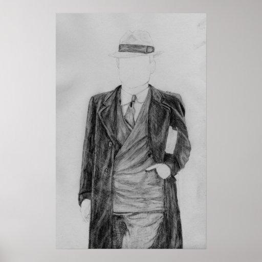 Homem sem cara pôsteres