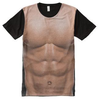 Homem Tshirtz engraçado do músculo Camisetas Com Impressão Frontal Completa