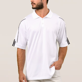Homens brancos lisos do pólo do climalite do golfe camisa polo