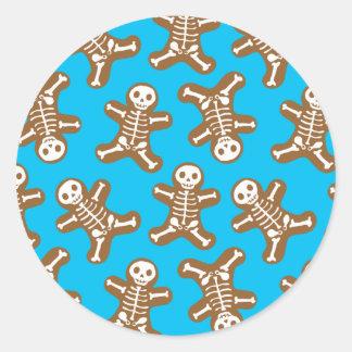 Homens de pão-de-espécie de esqueleto adesivo