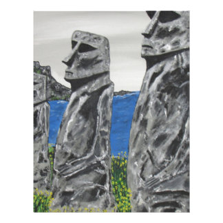 Homens de pedra da Ilha de Páscoa Papel Timbrado