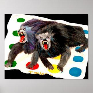 Homens-lobo com uma torção poster