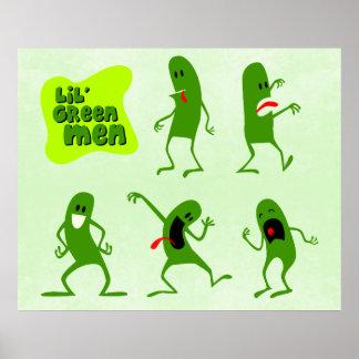 Homens verdes de Lil Impressão