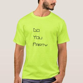 Homens você Party o t-shirt verde-claro super