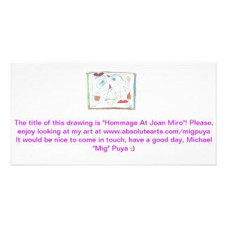 Hommage em Joana Miro Cartao Com Fotos Personalizado