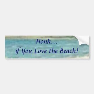 Honk se você ama a praia! Autocolante no vidro tra Adesivo Para Carro