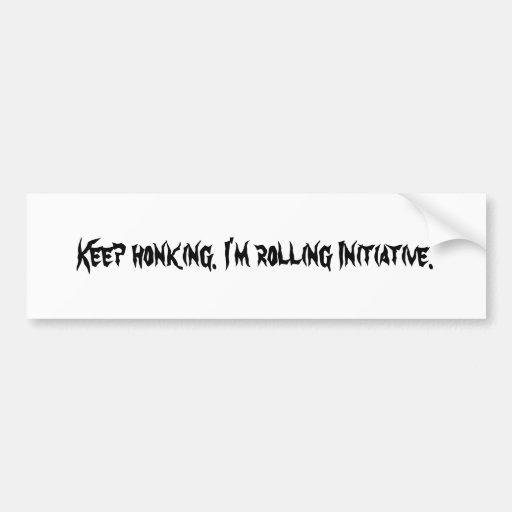 Honking Keep. Eu estou rolando a iniciativa Adesivo