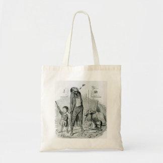 Honore Daumier: Poeta que compor um Eclogue clássi Bolsas De Lona