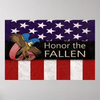 Honre as forças armadas caídas poster