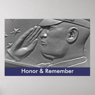 Honre & recorde o poster militar do herói