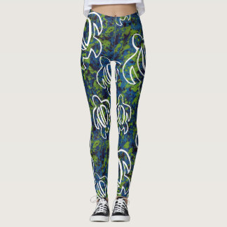 Honu azul leggings