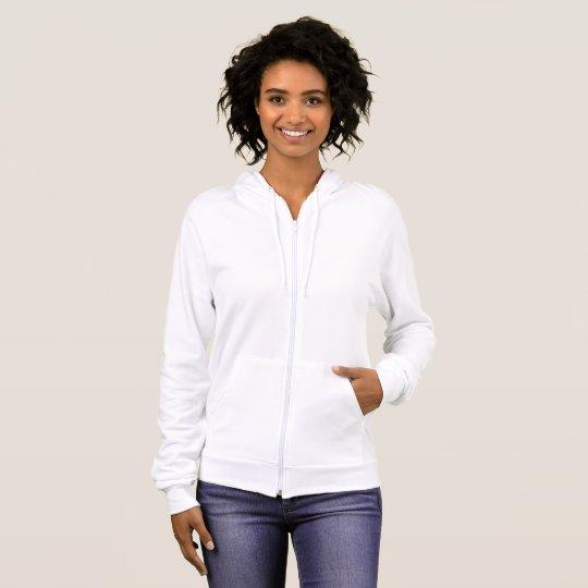 Agasalho com capuz feminino de lã de algodão da American Apparel, Branco