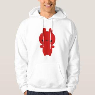Hoodie carnudo vermelho do coelho moleton com capuz
