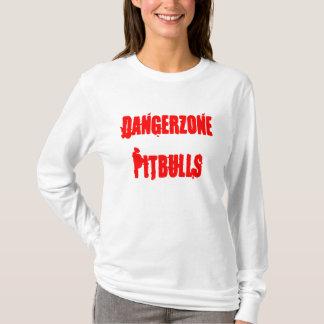Hoodie das senhoras de Dangerzone Pitbulls Camiseta