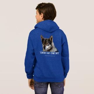 Hoodie do fecho de correr do lobo t-shirt