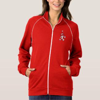 Hoodies vermelhos bonitos da jaqueta da camisa do