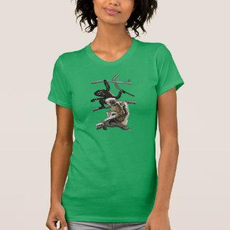 Hoolock ocidental Gibbons, aguarela Camiseta