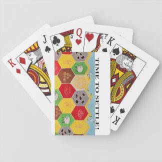 Hora de estabelecer cartões de jogo cartas de baralho
