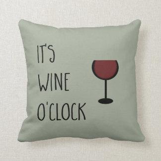 Hora do vinho almofada
