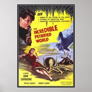 Horror do filme do vintage - impressão