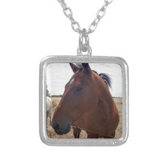 Horse_Magic, _ Colar Banhado A Prata
