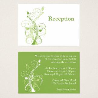 Hortaliças, cartão floral branco do cerco da