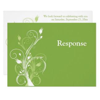Hortaliças, cartão Wedding floral branco de RSVP Convite 8.89 X 12.7cm
