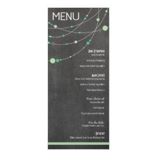 Hortelã do menu das costas do na moda de Angela & Convites