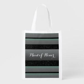 Hortelã, pontos, & madrinha de casamento elegantes sacola ecológica