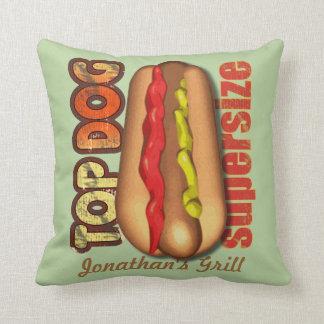 Hotdog do cão superior personalizado travesseiro