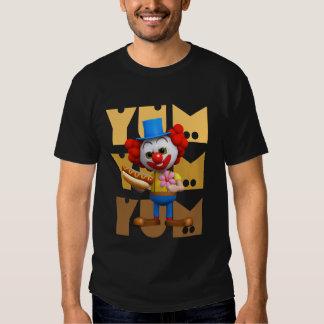 Hotdog engraçado do palhaço 3d Yum Yum Camiseta