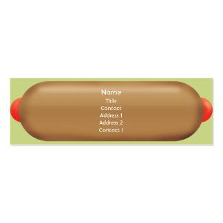 Hotdog retro - magro cartão de visita skinny