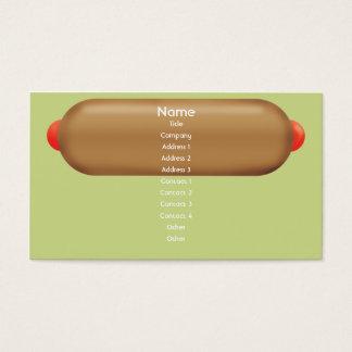 Hotdog retro - negócio cartão de visitas