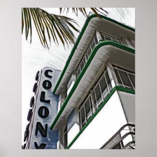Hotel da colônia, Miami, FL Poster