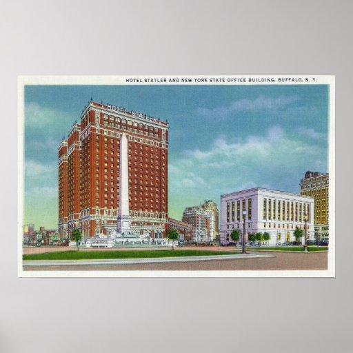 Hotel Statler e de estado de NY escritório Bldg Pôsteres