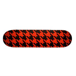 Houndstooth carmesim 2 shape de skate 18,7cm
