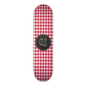 Houndstooth carmesim; Quadro retro Shape De Skate 21,6cm