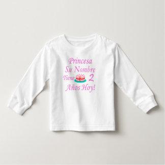 Hoy de Princesa Tiene 2 Años Camiseta Infantil