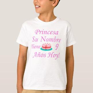 Hoy de Princesa Tiene 9 Años T-shirt