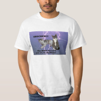 HSUS-Chocado (branco) Camisetas