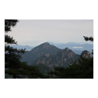 Huangshan, montanhas amarelas, paisagem de China Poster