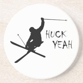 Huck yeah (esqui) porta-copos de arenito